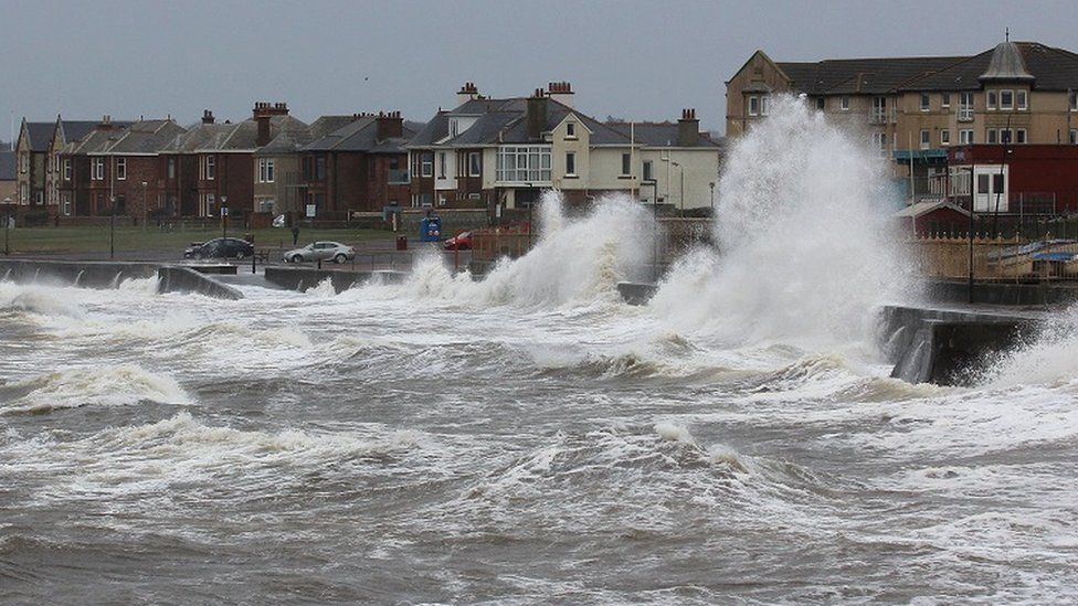 Storm Gareth at Prestwick