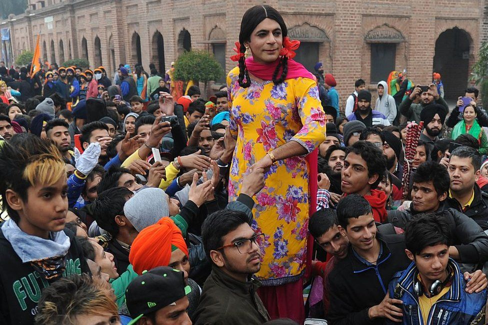 Indian comedian Sunil Grover, also known as Gutthi, attends an 'India's Got Talent' auditions at a college in Amritsar on January 25, 2015.