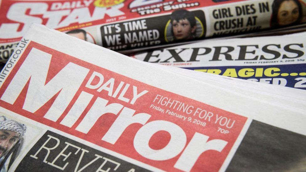 Mirror and Express newspapers