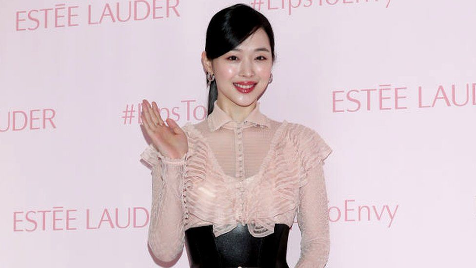 Sulli pictured in February 2019