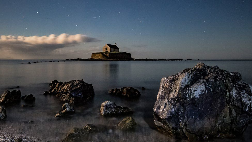 St Cwyfan's Church at Llangadwaladr on Anglesey