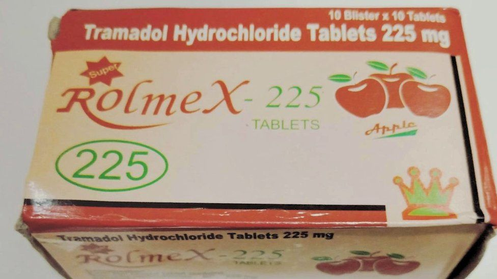 Box of tramadol tablets