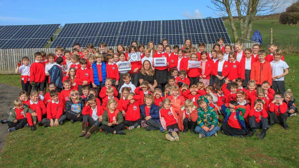 Georgeham Primary school children
