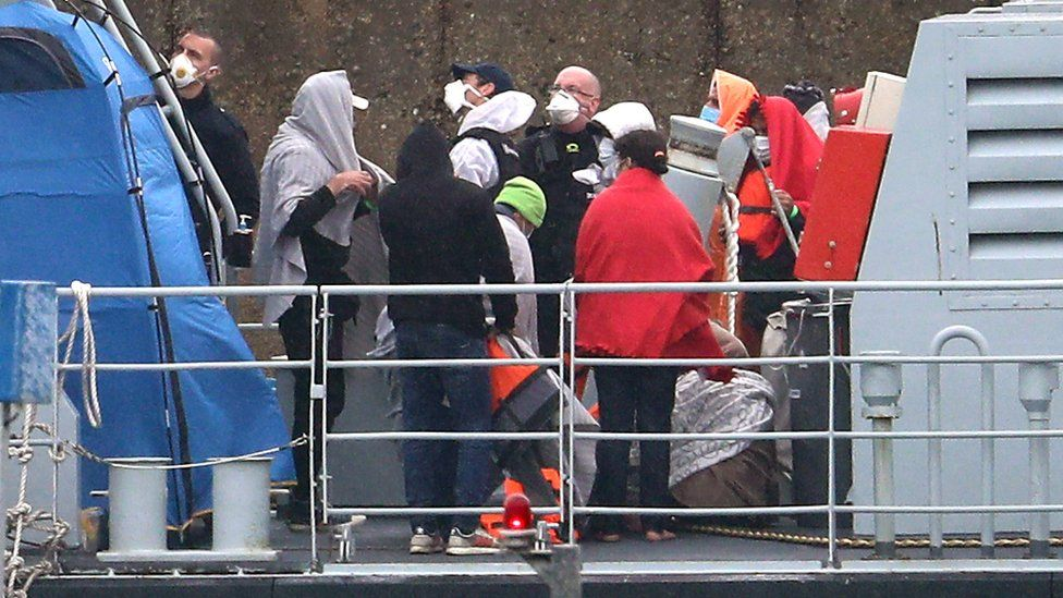 Migrants at Dover