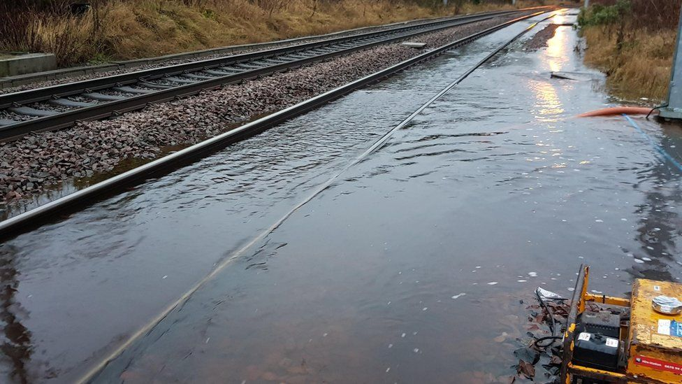 flooded track