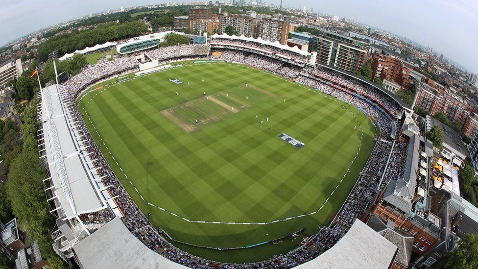 Aerial shot of the Lord's complex