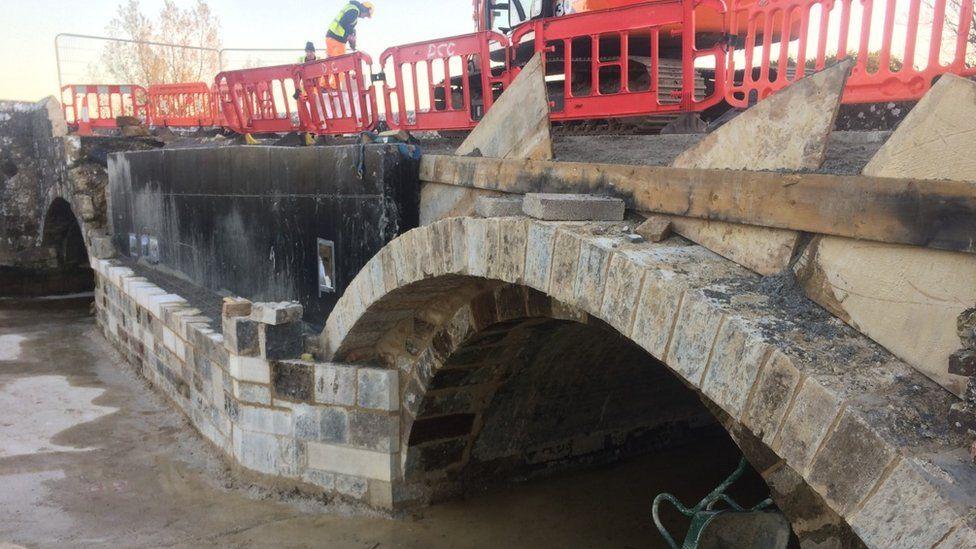 Wool Bridge repair works