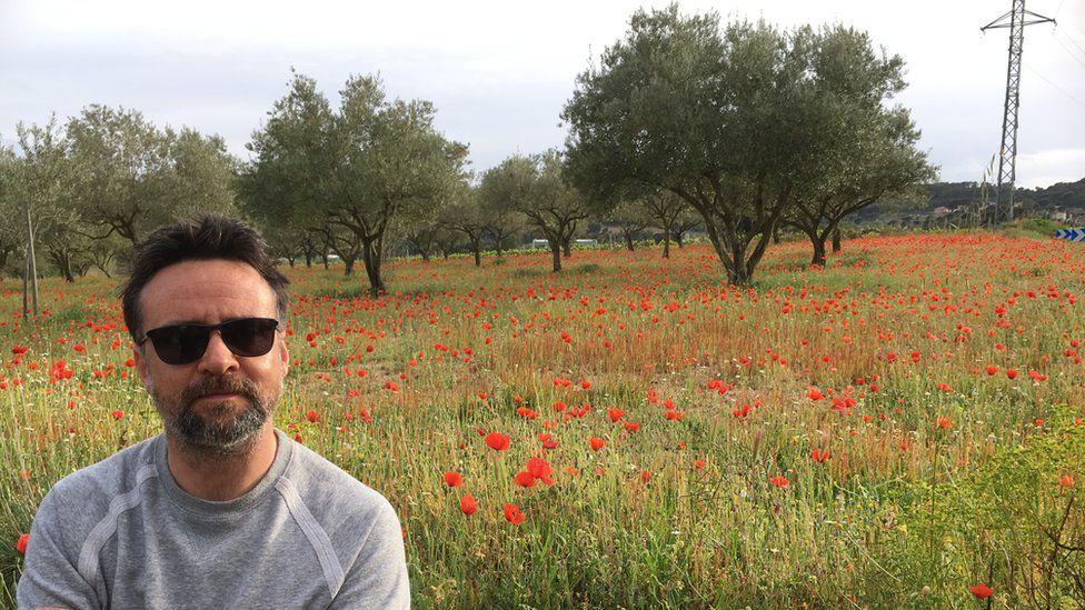Richard Harrington in a field in Spain