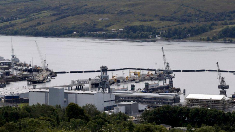 "Royal Navy""s Submarine Base At Faslane"