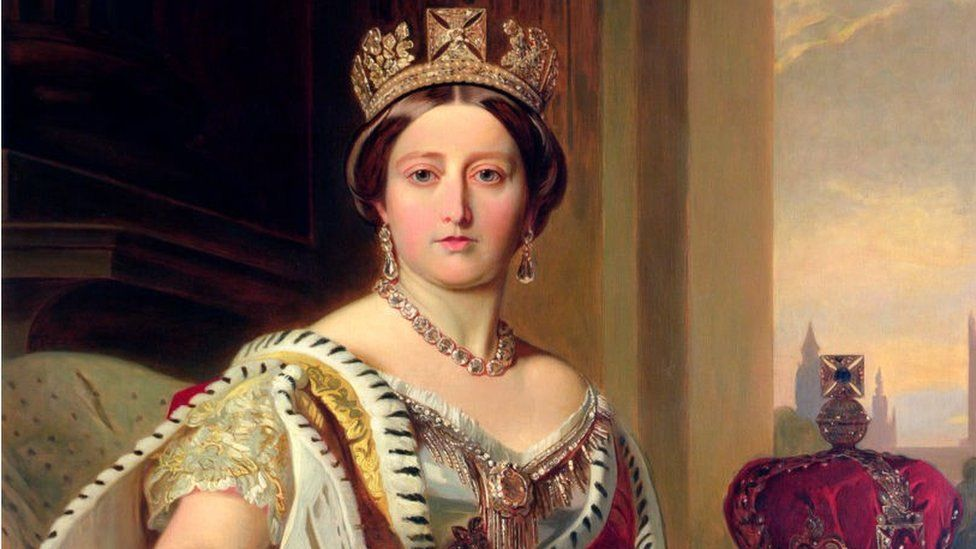 Queen Victoria, 1859. Victoria (1819-1901) succeeded her uncle, William IV, to the throne in 1837
