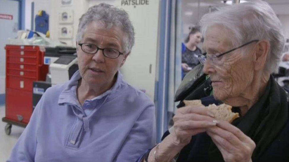 Jan Newman and friend Gwyneira