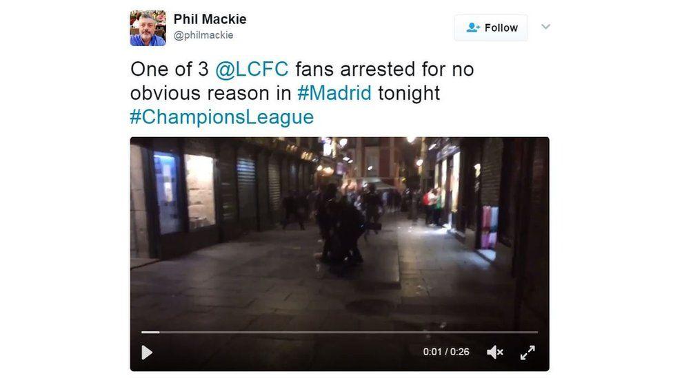 Tweet by Phil Mackie