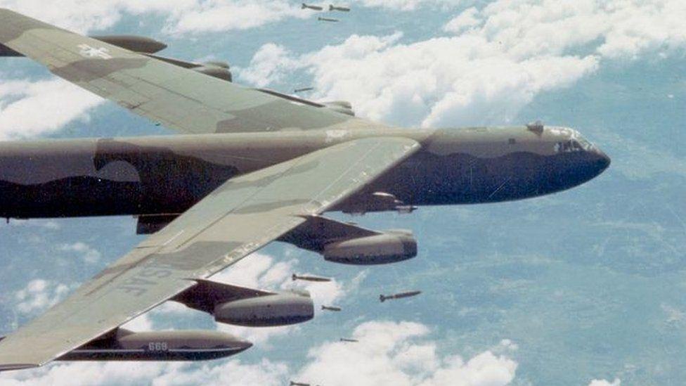 B-52 bomber in south-east Asia (December 1972)