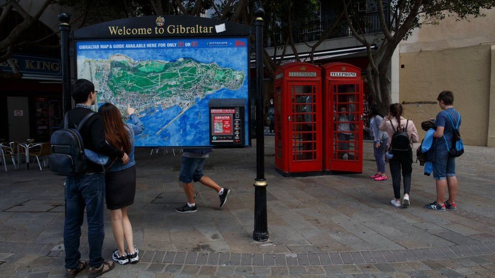 Phone boxes in Gibraltar