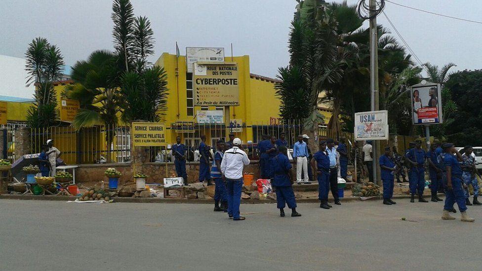 Near scene of one of the blasts