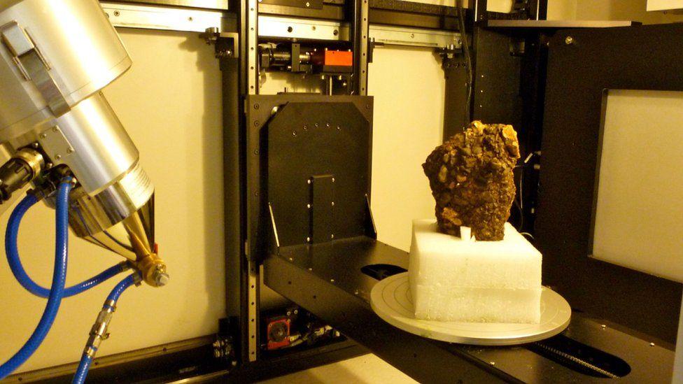 gravel block in the lab