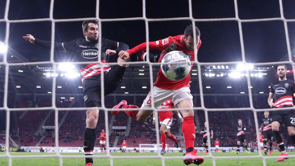 FSV Mainz play Fortuna Duesseldorf in the Bundesliga earlier this year