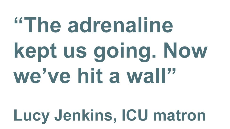 quote: The adrenaline kept us going
