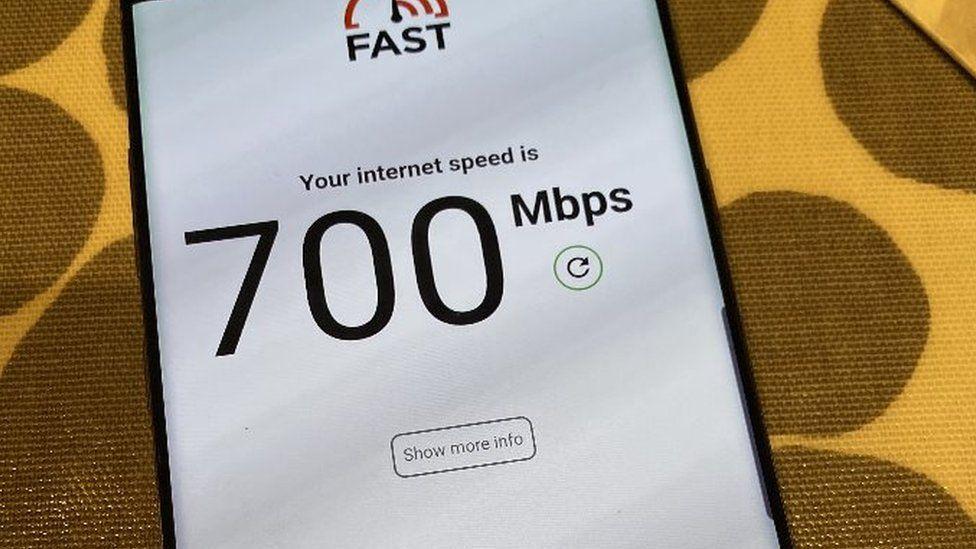 Phone speed test