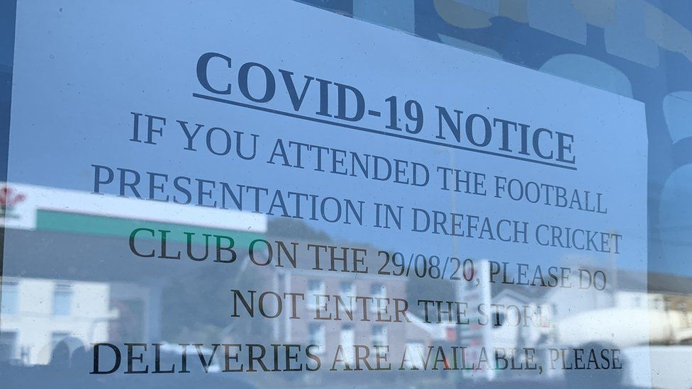 Signs have been placed on the club
