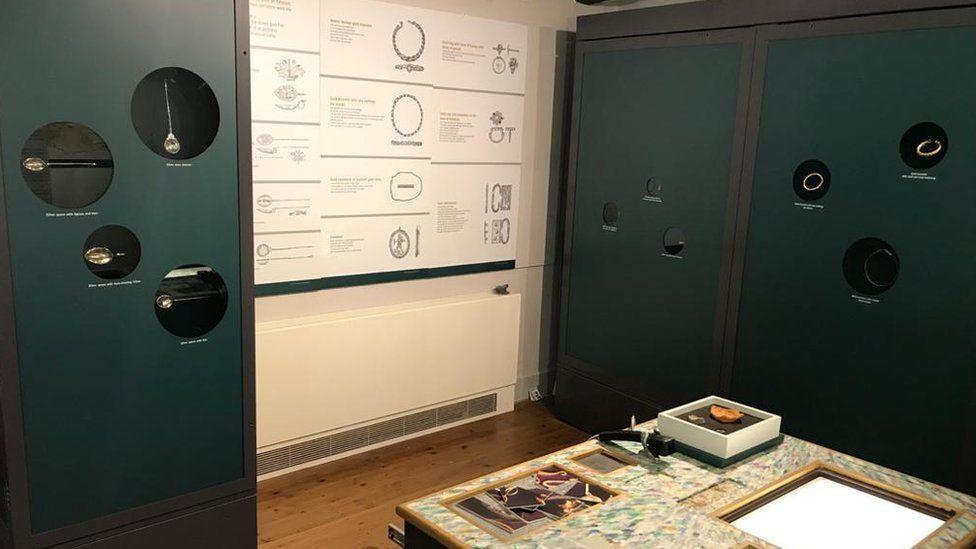 Thetford Treasure display at Ancient House Museum
