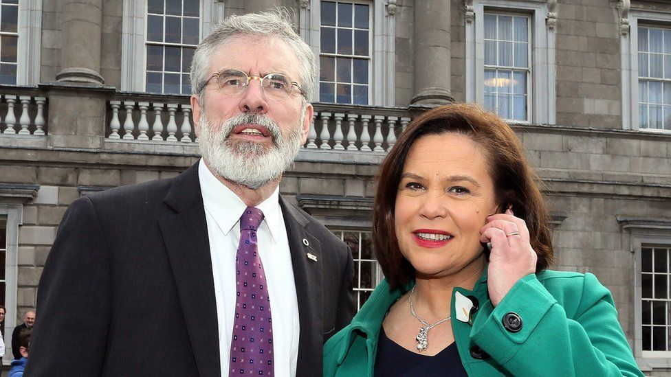 Gerry Adams and Mary Lou McDonald