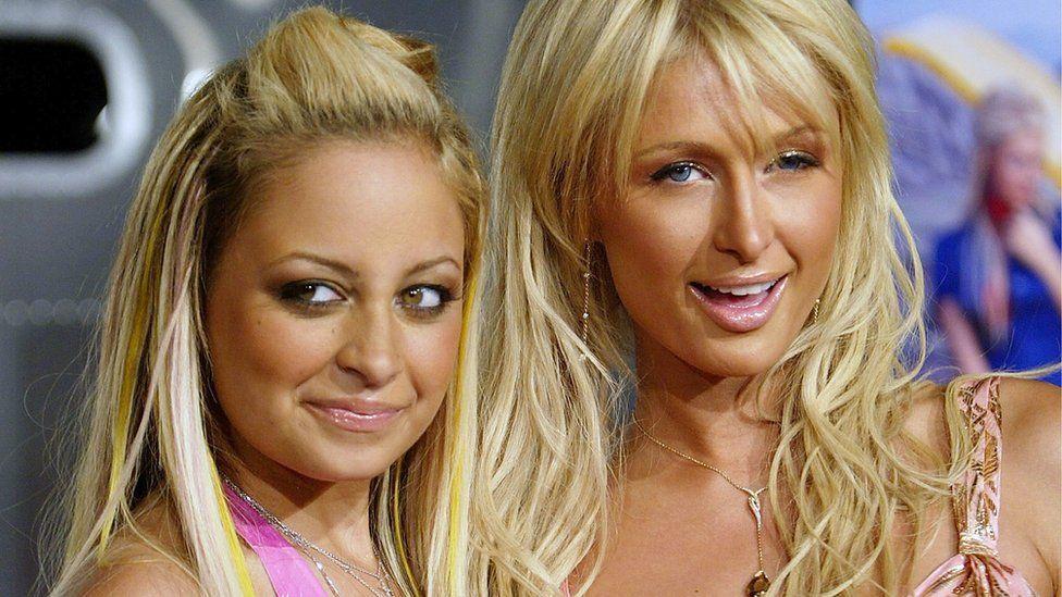 Nicole Richie and Paris Hilton at Simple Life event in 2004