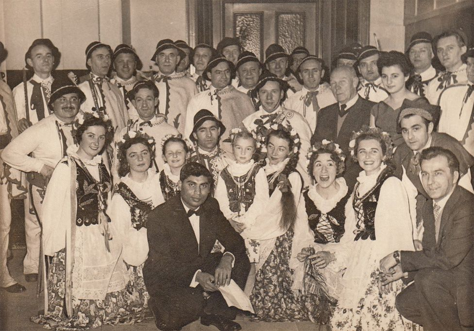 Traditional Polish dancing in Birmingham in the 1950s