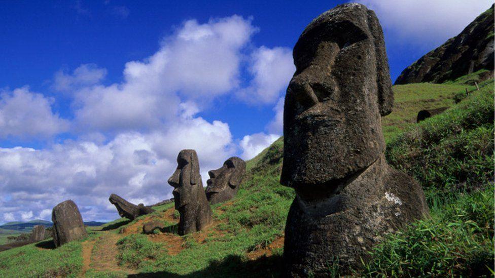 Chile: la teoría que explica la ubicación de los moais en la Isla de Pascua