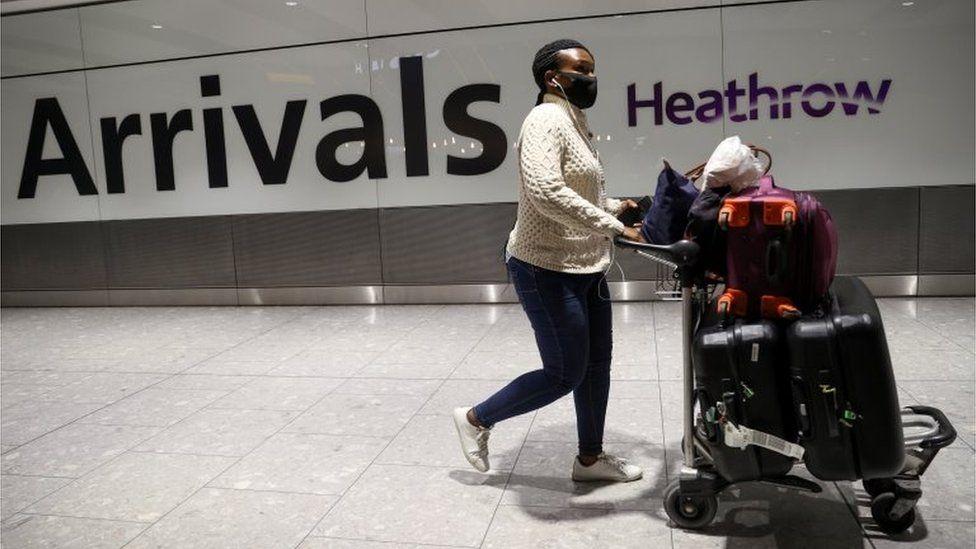 Heathrow arrivals passenger