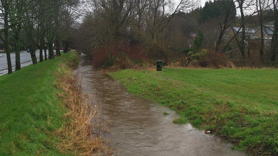 Burrow Beck river