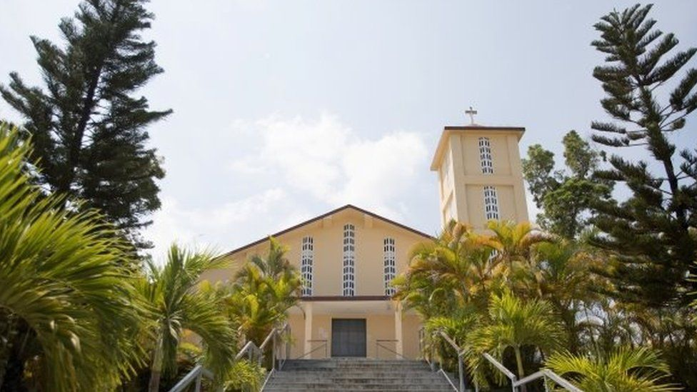 The church of St Rock where one of the kidnapped priests lives and works is seen in Port-au-Prince, Haiti April 12, 2021
