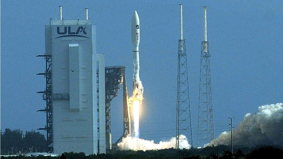 Atlas V rocket carrying the X-37B Orbital Test Vehicle launches from Cape Canaveral
