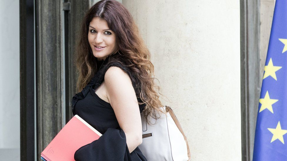 French junior minister in charge of gender equality Marlène Schiappa arrives at the Elysée Palace for a cabinet meeting in Paris, France, 24 May 2017.
