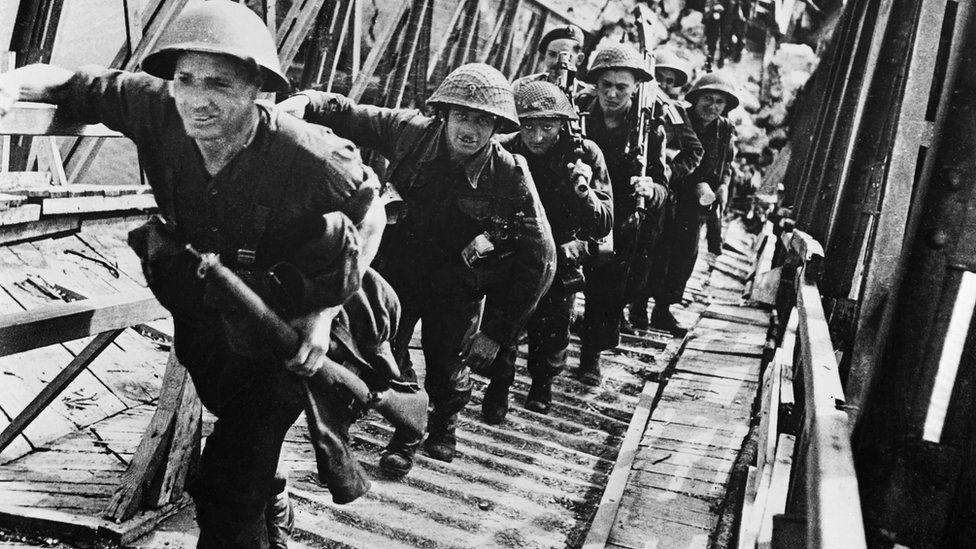 British troops embarking