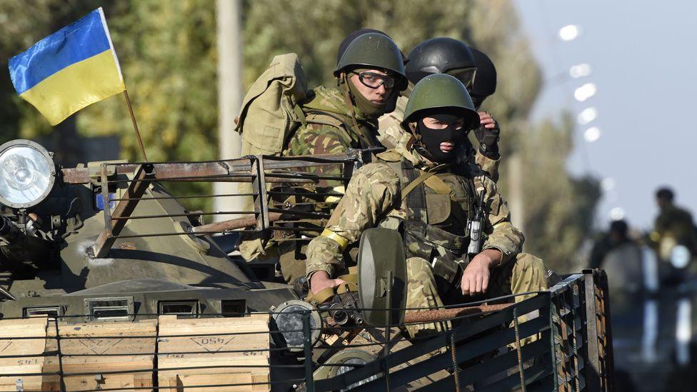 Ukrainian troops near Mariupol, 5 Sep 14