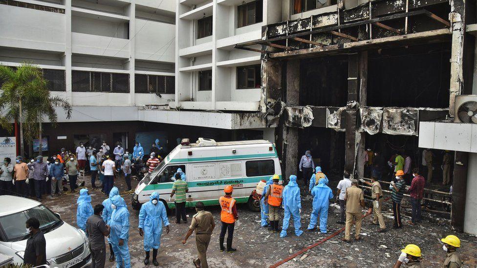 In India: Fire Outbreak At Vijayawada Coronavirus Facility kills at least seven
