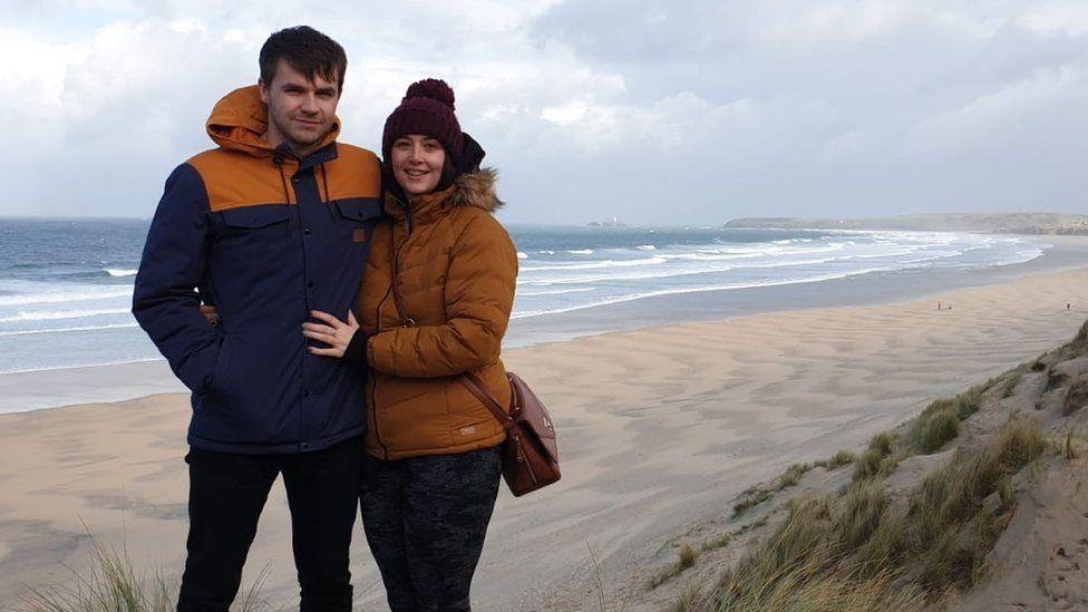 Jon and Laura in Cornwall