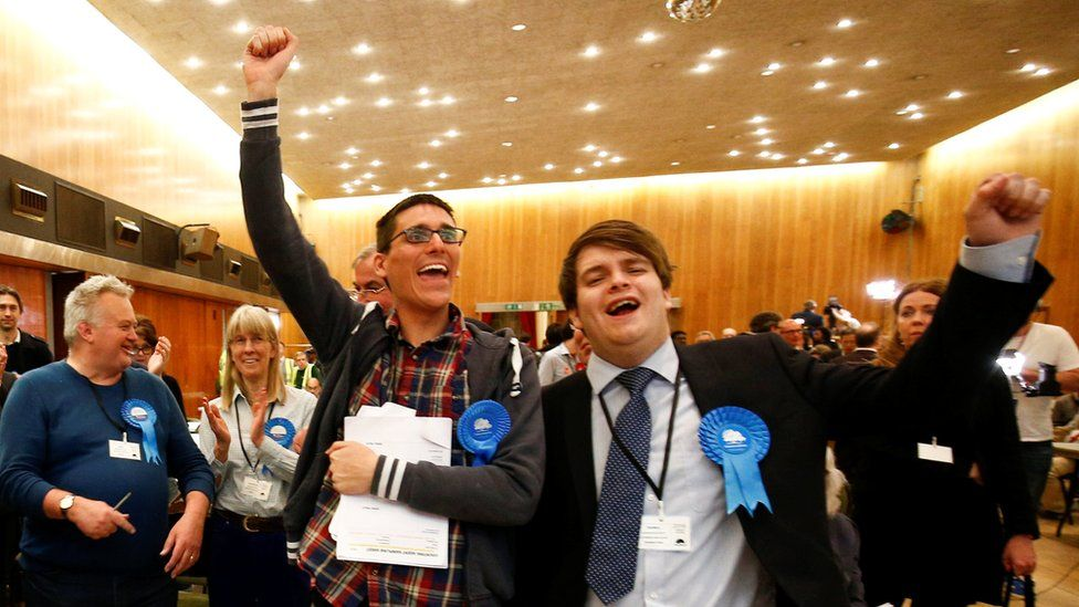Conservatives cheer the result in Wandsworth