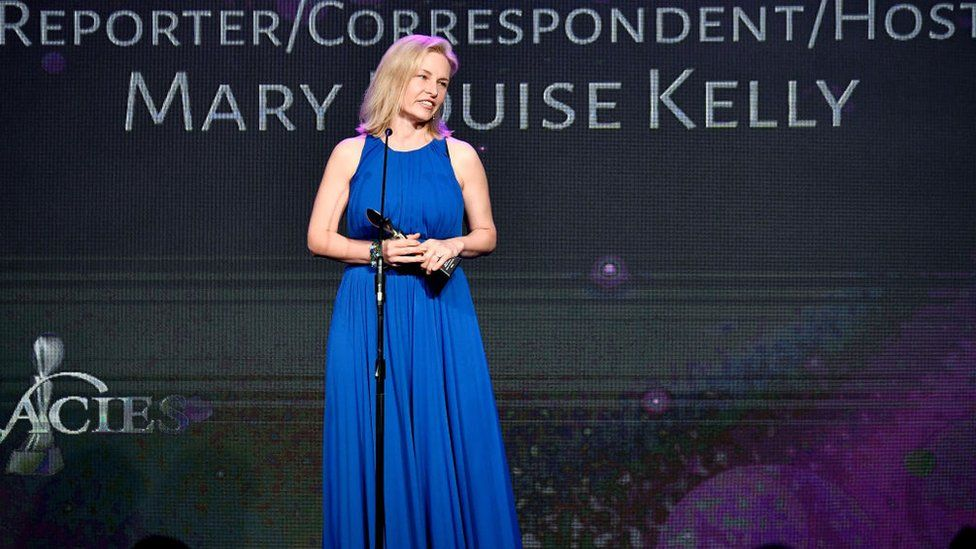 Mary Louise Kelly speaks onstage at the Gracie Awards on 22 May 2018