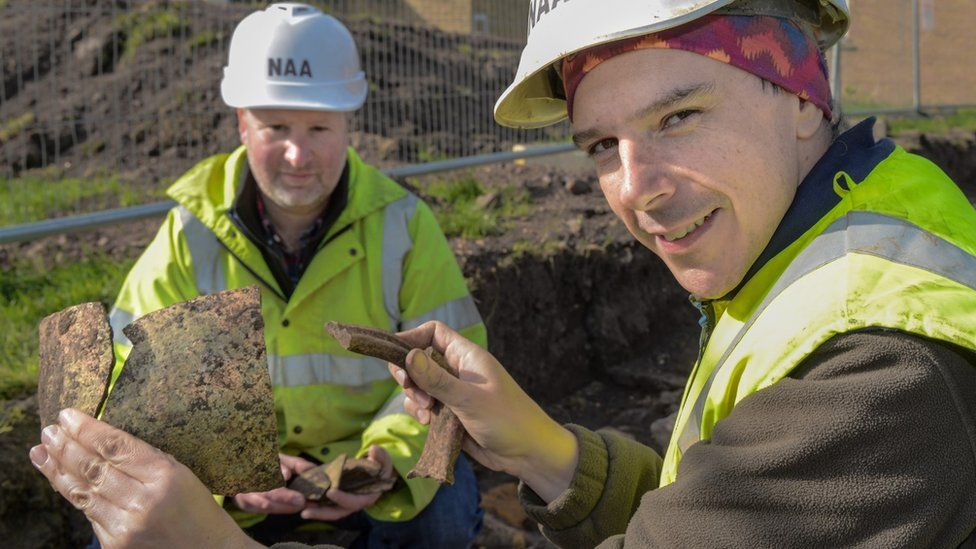 Medieval pottery was also unearthed