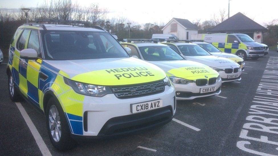 North Wales Police cars