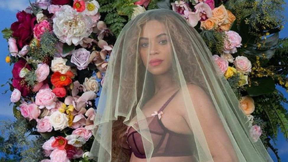 A screengrab from one of Beyonce's most popular Instagram posts