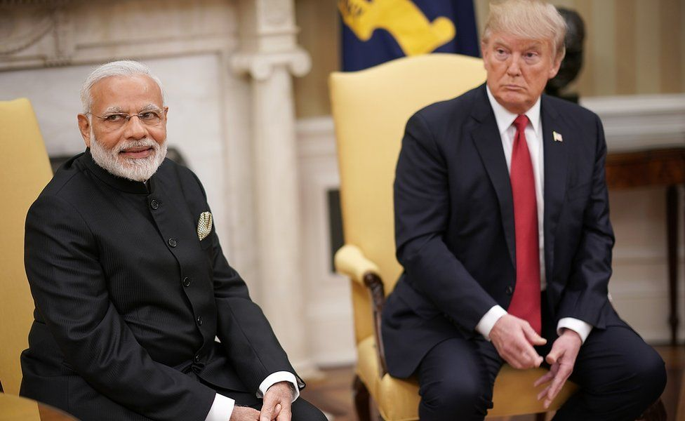 Modi and Trump at the White House
