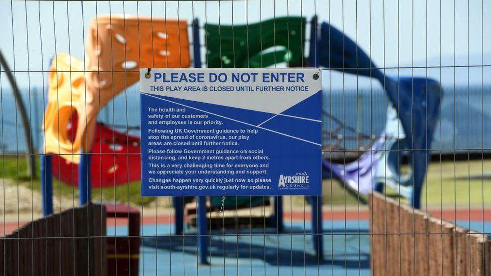 play park closed in Ayrshire