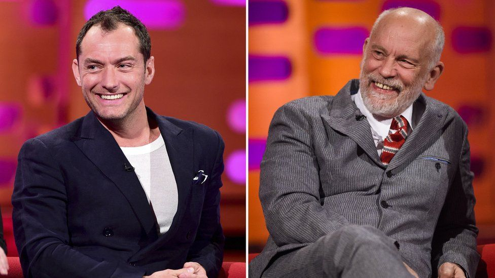 Jude Law and John Malkovich