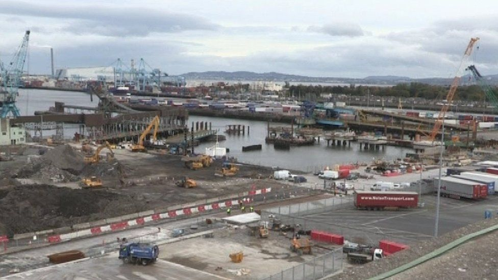 Construction at Dublin Port