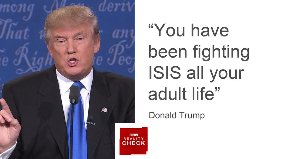 """Donald Trump: """"You have been fighting ISIS all your adult life"""""""