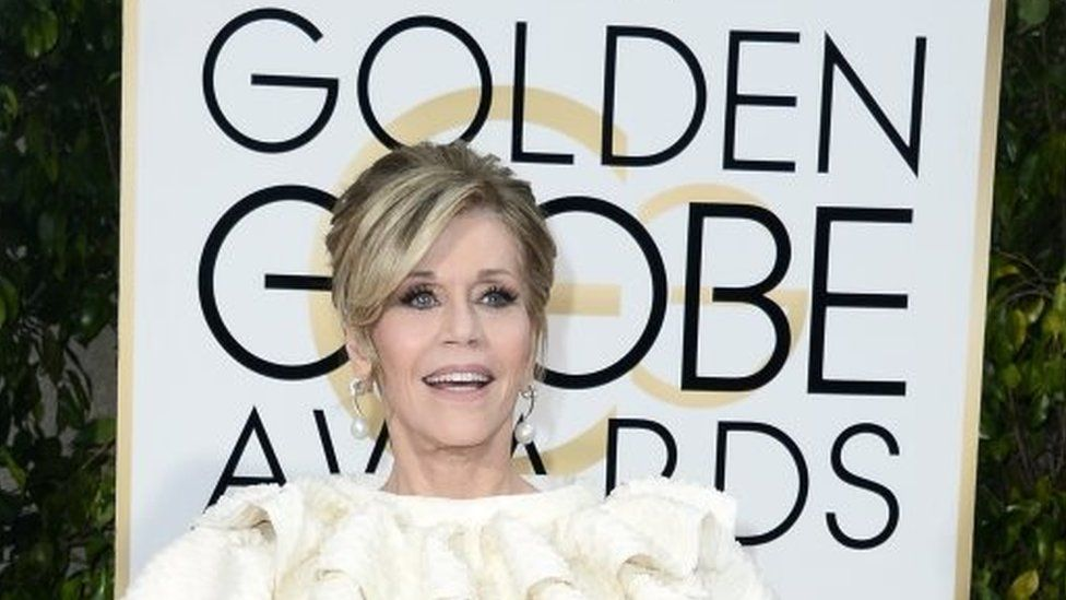 Jane Fonda was honored for her lifetime achievement in the Golden Globes