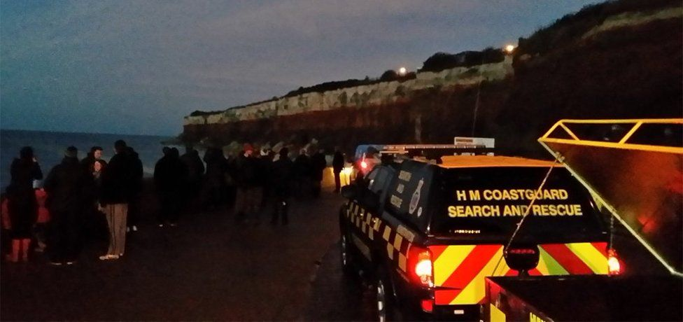 Crowds gather in Hunstanton as coastguards try to help a stranded whale